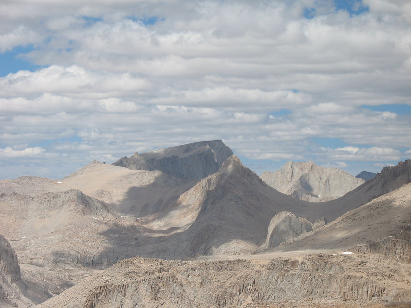 Mount Whitney (center), Mount Carillon (right)