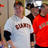 GIANTS WORLD SERIES TROPHY VISITS SOUTH SAN FRANCISCO