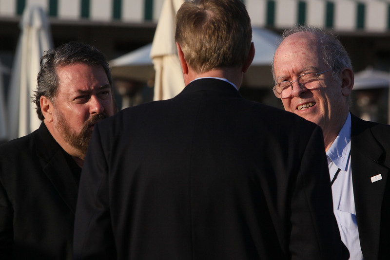 (L-R) Mark Anderson, CEO of SNS and FiRe Chair; Phil Scanlan, Australian Consul-General; and Roger Payne, Founder and President, Ocean Alliance