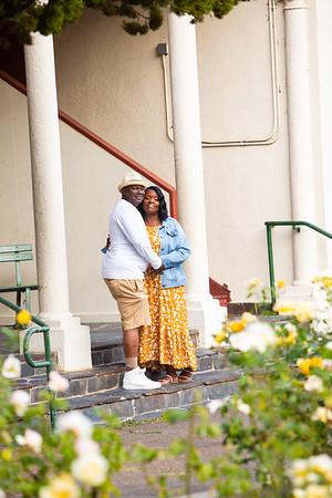 Tenicia & Jackson engagement portrait2