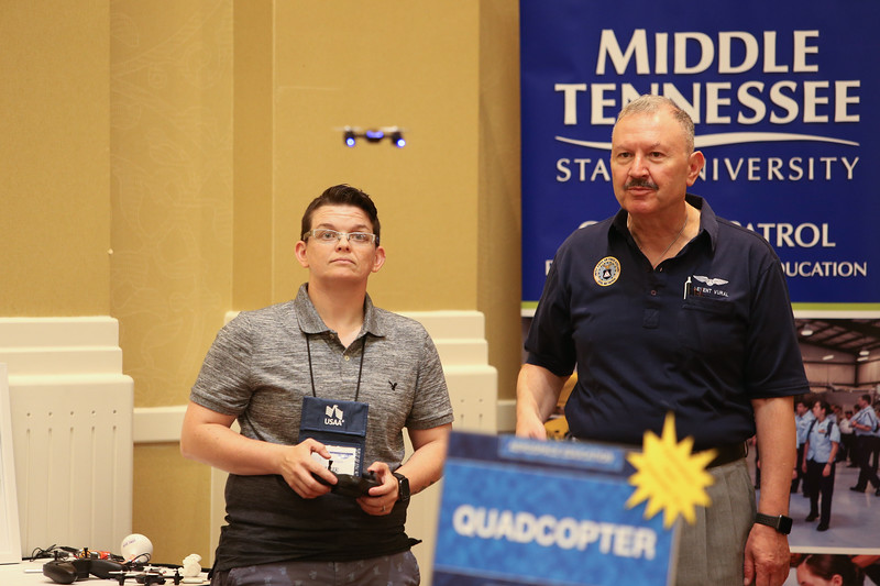 Civil Air Patrol members got to experience hand-on learning the with STEM kits at the 2019 CAP National Conference, in Baltimore, MD on Aug. 8, 2019. The Aerospace Education open house gave members the chance to see the newest STEM Kits available for free to squadrons and schools. Civil Air Patrol is the auxiliary of the U.S Air Force and is a proud partner in the Total Force with more than 64,000 volunteer Airmen. (Civil Air Patrol, U.S Air Force Auxiliary photo by Lt. Col. Robert Bowden)
