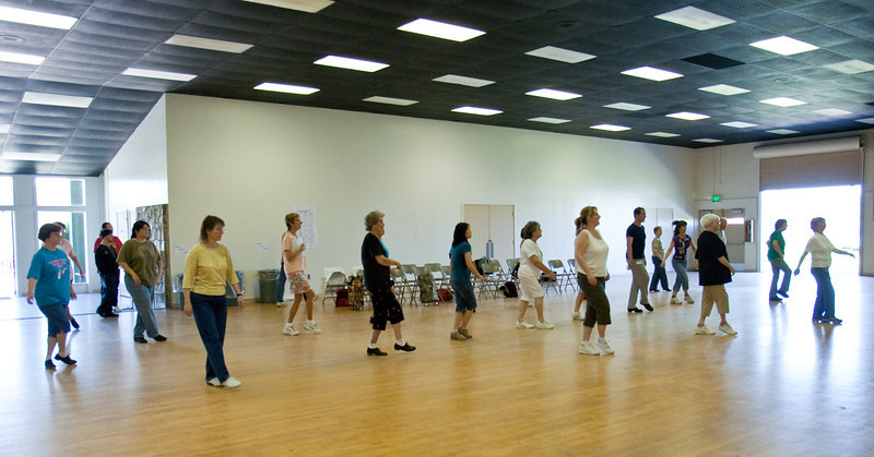 Workshops in Jackson Hall.