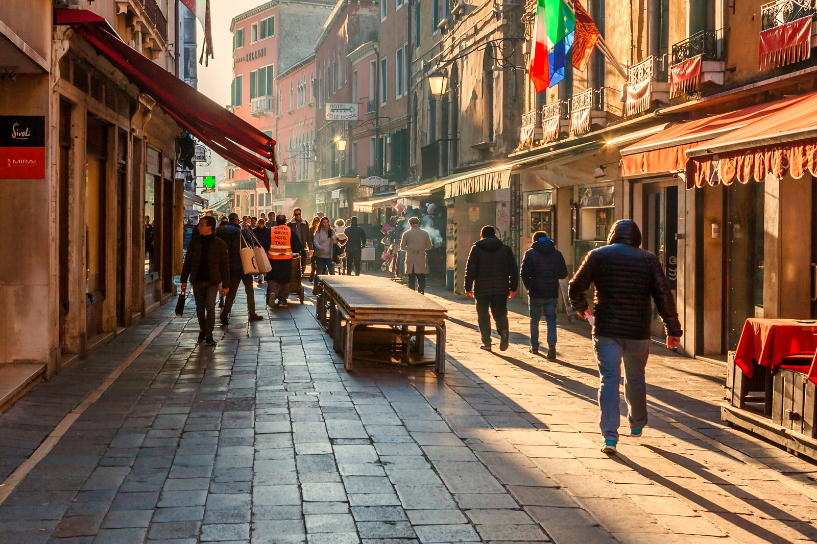 意大利威尼斯,逛逛小街看看人群