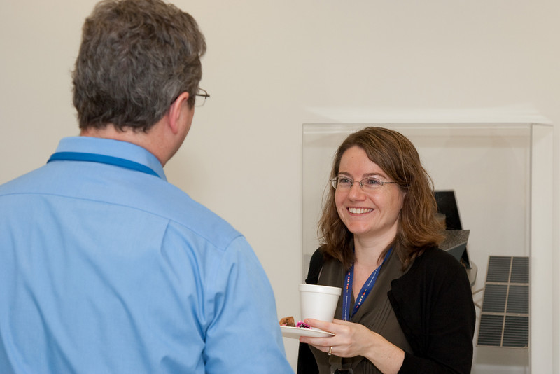 Glenn Wahlgren and Liz Hays -- March 2011 new staff welcome coffee, Astrophysics Science Division, NASA/ Goddard Space Flight Center