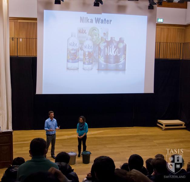 Their presentation included an explanation of social entrepreneurship.