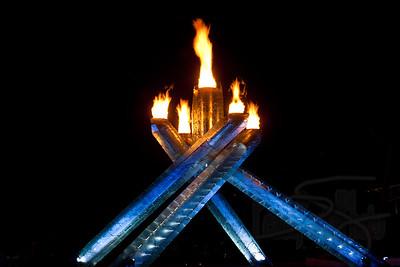 Olympic Cauldron. Vancouver 2010.