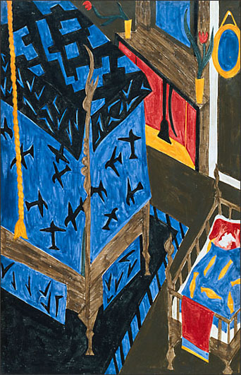 "Jacob Lawrence, ""The Life of Frederick Douglass No. 5"" (1939)"