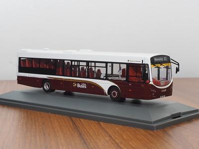Corgi OOC OM46712A Lothian Buses Volvo B7RLE Eclipse route 43 Waverley