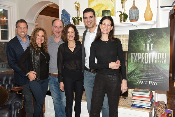 "Suri Kasirer and Bruce Teitelbaum host Chris Babu's new book party ""  The Expedition"" at their private Southampton residence on 12-1-18.   all photos by Rob Rich/SocietyAllure.com ©2018 robrich101@gmail.com 516-676-3939"