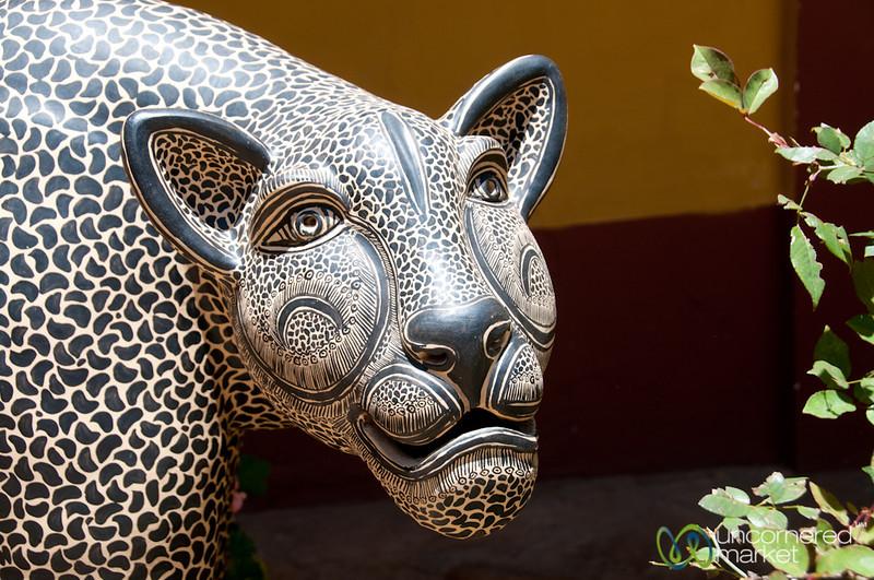 Ceramic Panther at Museo Na-Bolom - San Cristobal de las Casas, Mexico