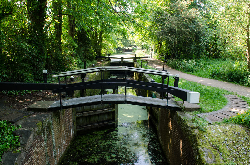 Basingstoke Canal locks near Woking