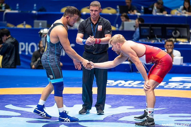Champ. Round 2: Kyle Douglas Dake (United States) over Oibek Nasirov (Kyrgyzstan)  •  TF 12-2 - 2019 World Championships
