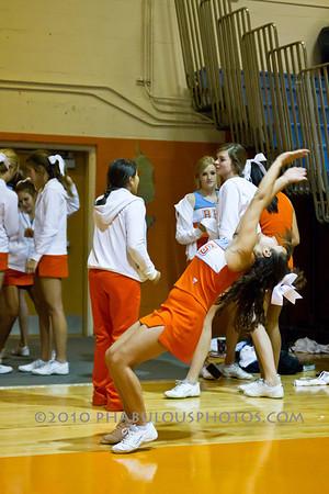 JV Cheer at Basketball Games - 2010