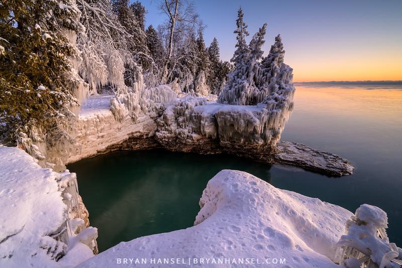 Winter Cave Point Sunrise