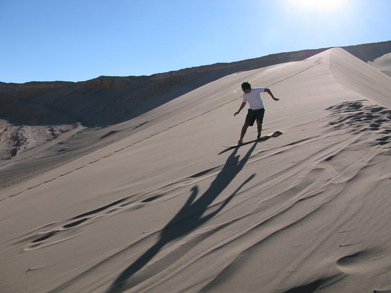 Sand boarding