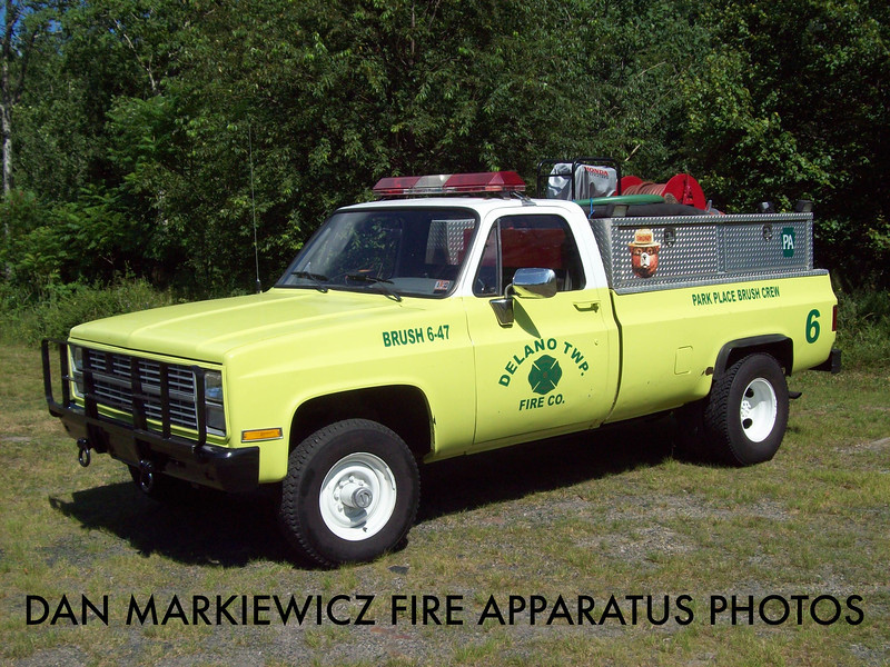 DELANO FIRE CO. BRUSH 6-47 1985 CHEVY/DFC BRUSH UNIT