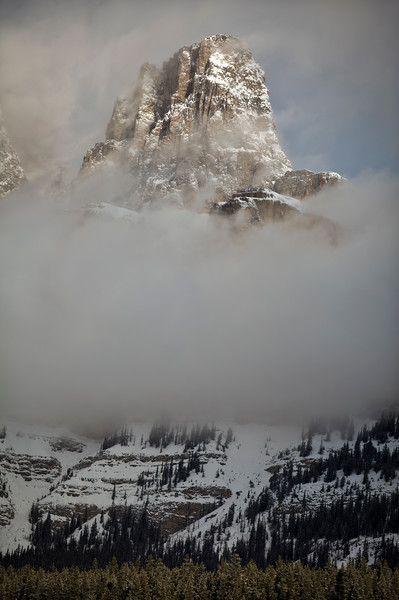 """Tower of Mists"" VI, Castle Mountain, Banff National Park, Alberta, Canada."