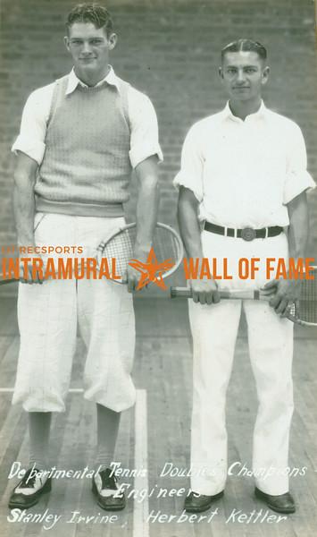 TENNIS Departmental Doubles Champions  Engineers  Stanley Irvine & Herbert Kettler