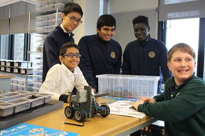 Robotics with Nardin Academy middle school students Oct. 2019