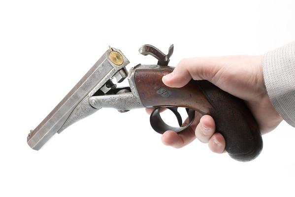 Image of opened Casimir Lefauchuex pistol