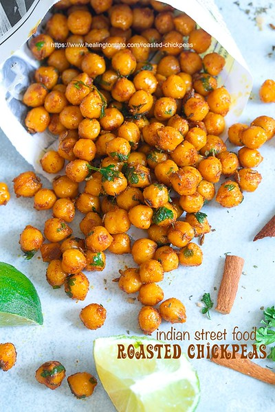 Roasted Chickpeas - Vegan Indian Snack Food - Indian street food