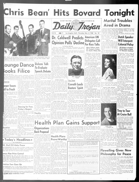 Daily Trojan, Vol. 40, No. 39, November 04, 1948