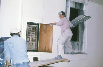 1975, Cheryl Sprays Walls