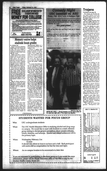 Daily Trojan, Vol. 111, No. 26, February 16, 1990