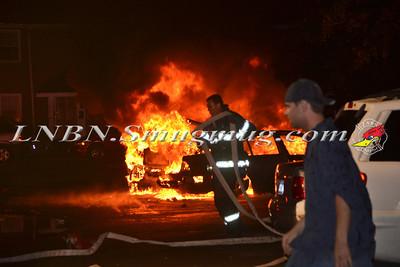 Uniondale F.D.  Double Car Fire 659 Nassau Road 5-28-12