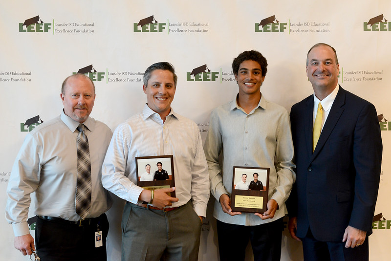 "Vandegrift High School senior Reese Watson, recognizing Brady Ruiz: ""He has been like another father figure to me in school, always takes care of me, and he has two sons that I have grown very found of and they are like little brothers to me."""