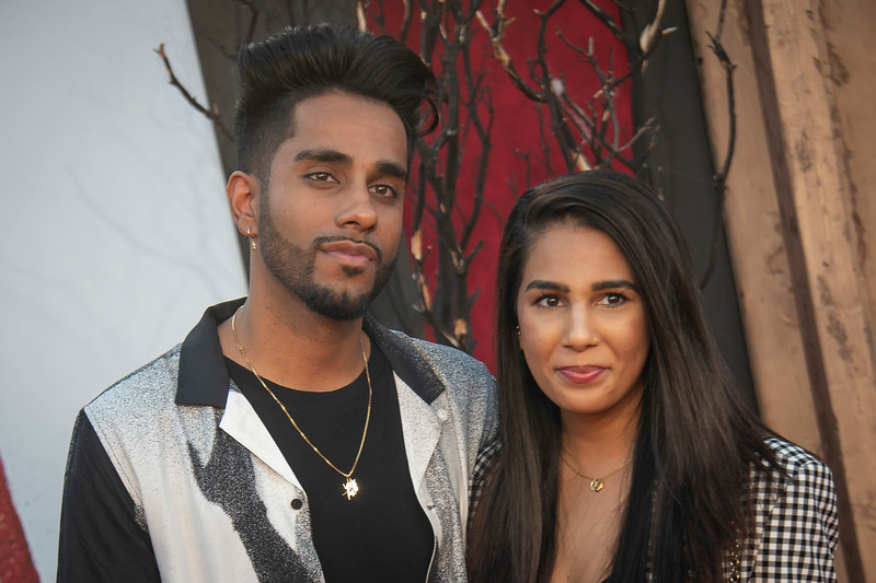 """WESTWOOD, CA - AUGUST 26: Jaz Saini (R) and Harjit Bhandal attends the Premiere Of Warner Bros. Pictures' """"It Chapter Two"""" at Regency Village Theatre on Monday, August 26, 2019 in Westwood, California. (Photo by Tom Sorensen/Moovieboy Pictures)"""