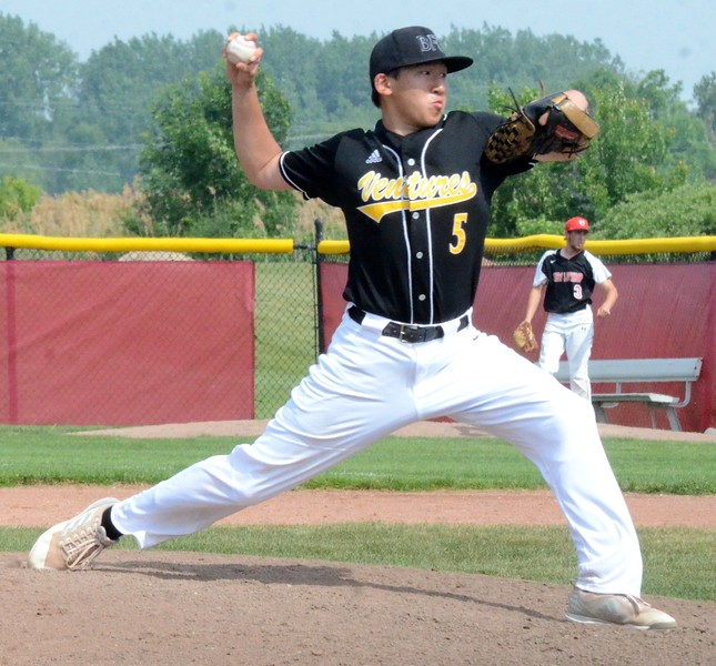 Madison Heights Bishop Foley defeated New Lothrop, 8-1, in the Division 3 baseball quarterfinal at Saginaw Valley State University on Tuesday afternoon. (Oakland Press Photo Gallery by Drew Ellis)