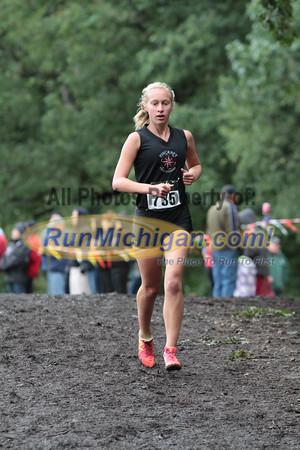 JV Girls D2 at 1 mile mark - 2014 Nike Holly Duane Raffin Cross Country Invite