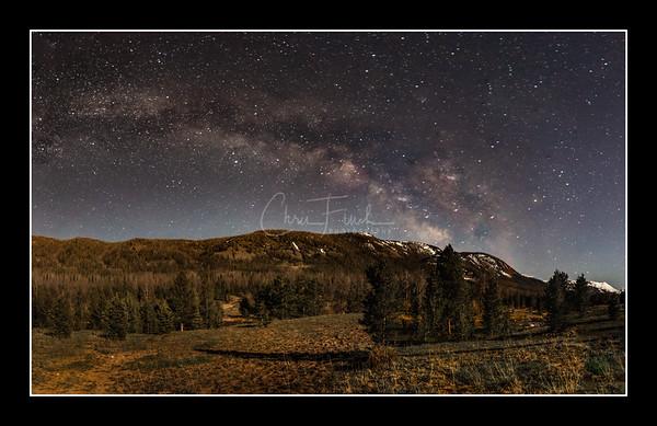 Night Skies Over East Fork Blacks Fork River, Utah