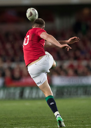 Owen Farrell during game 7 of the British and Irish Lions 2017 Tour of New Zealand, the first Test match between  The All Blacks and British and Irish Lions, Eden Park, Auckland, Saturday 24th June 2017 (Photo by Kevin Booth Steve Haag Sports)  Images for social media must have consent from Steve Haag