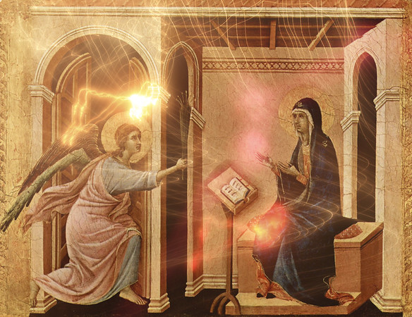 Annunciation - masterpieces of all the times
