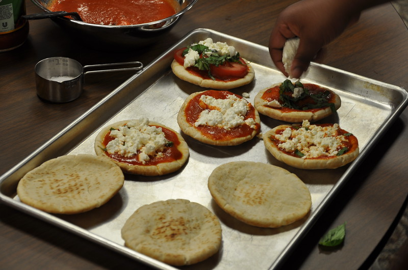 nice mini pizzas with homemade mozzarella.jpg