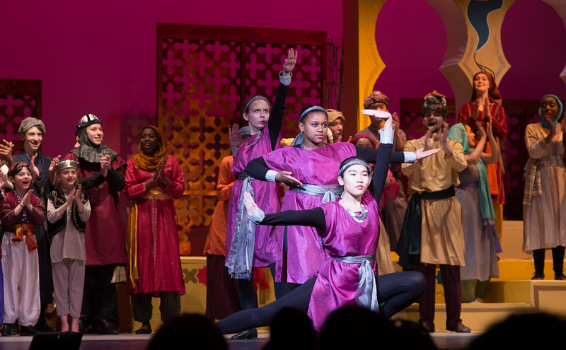 The three Princesses of Ababu -- Kismet, Montgomery Blair High School spring musical, April 15, 2016 performance (Silver Spring, MD)