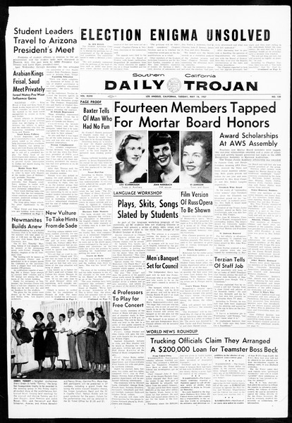 Daily Trojan, Vol. 48, No. 130, May 14, 1957