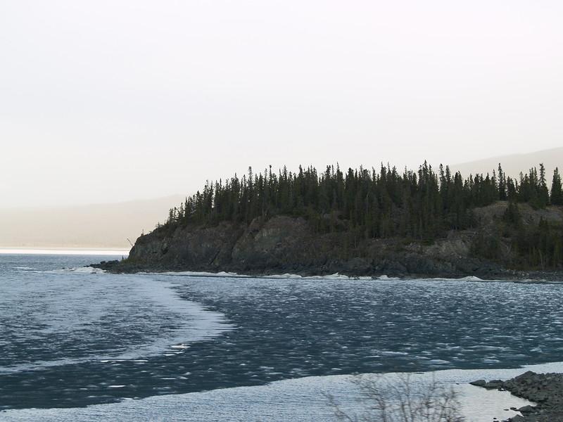 More ice on Kluane Lake.