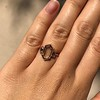 1.96ctw Fancy Golden Brown Hexagon Diamond and Baguette Trilogy Ring 27