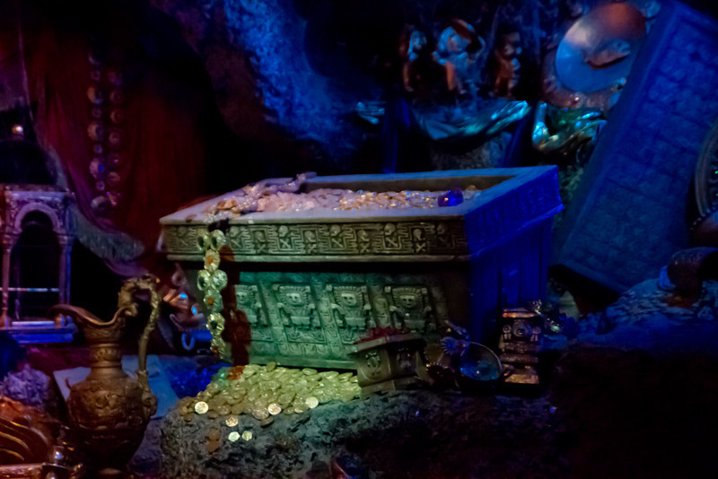 Treasure Room Inside Pirates Of The Carribean Ride @ Disneyland