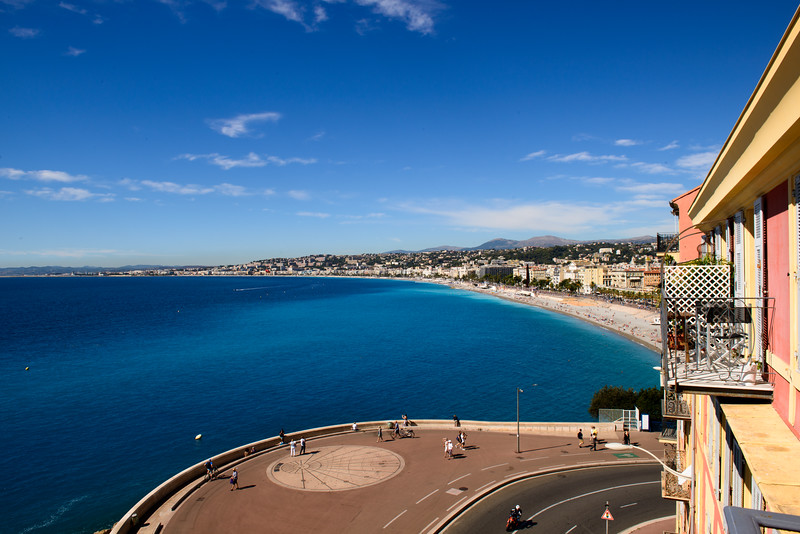 View from apartment in Nice