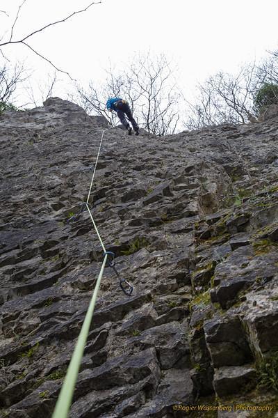 2015-03 Climbing in Yvoir
