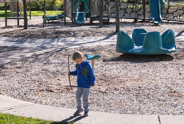 Isaiah & Adeline at Brookview Park - October 17, 2018