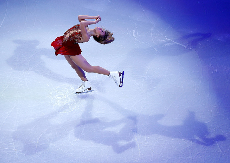 . Ashley Wagner performs during the Smucker\'s Skating Spectacular following the Prudential U.S. Figure Skating Championships at TD Garden on January 12, 2014 in Boston, Massachusetts.  (Photo by Jared Wickerham/Getty Images)
