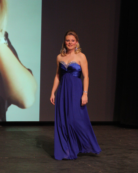 Breanna Davenport in her evening gown