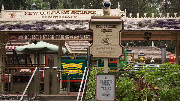 Disneyland Resort, Disneyland, Frontierland, New Orleans Square, New, Orleans, Square, Railroad, Train, Depot, Station