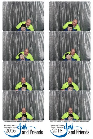 March 23, 2016 Joni and Friends Photo Booth Strips