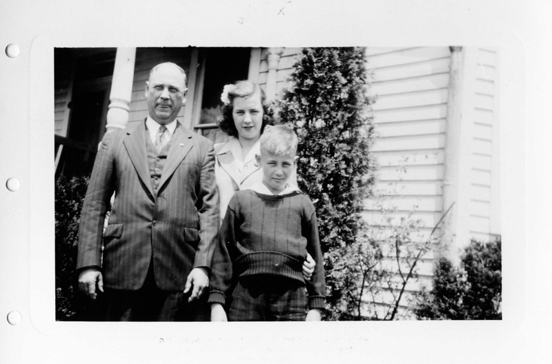 Grandad James Harsha, Helen, and Jim. 1943.